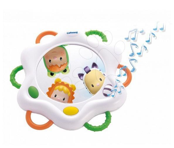 Magické zrkadlo Cotoons Smoby so zvukmi pre kojencov biele od 6 mes