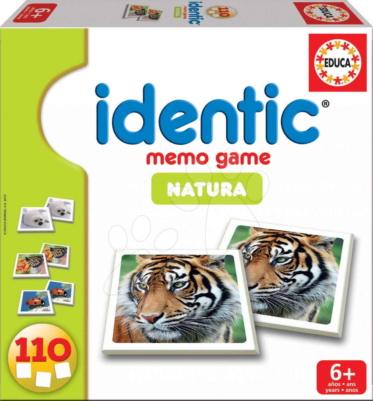 Pexeso Identic Memo Game Natura Educa 110 ks so zvieratami od 6 rokov