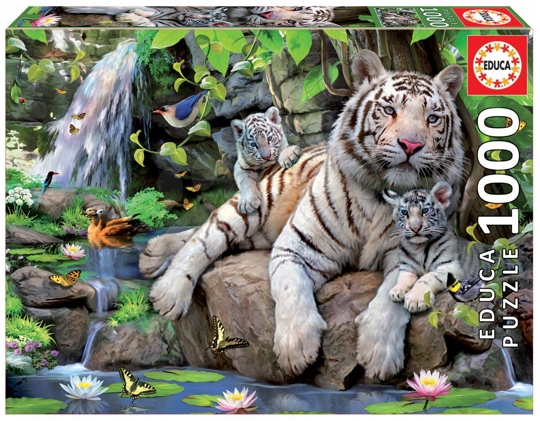 Educa Puzzle Tiger s tigríčatami 1000 dielikov 14808 farebné