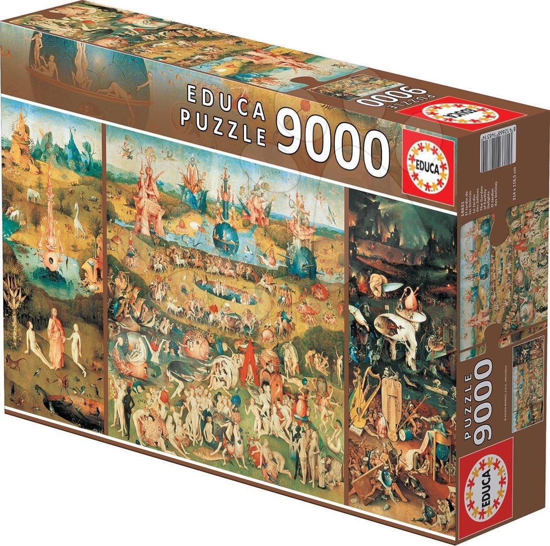 Puzzle Záhrada Pozemských Rozkoší - Hieronymus Bosch Educa 9 000 dielov od 15 rokov