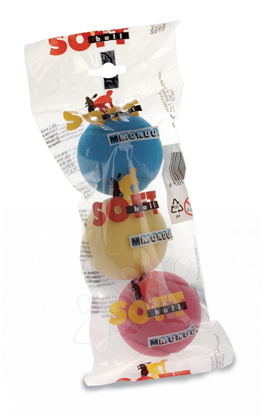 Mondo penové lopty pre deti 3 ks 14861 farebné