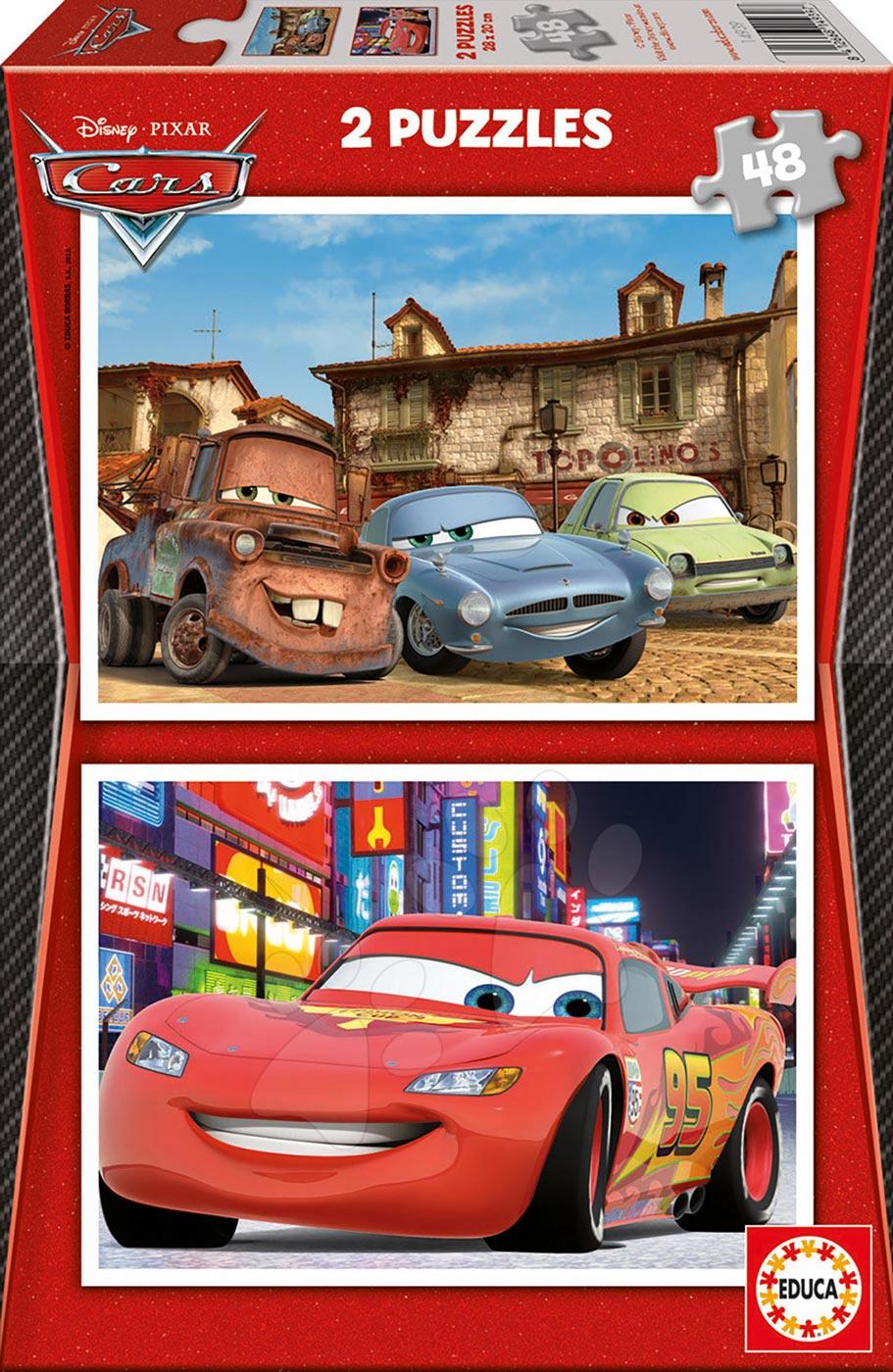 Otroške puzzle do 100 delov - Puzzle Avtomobili 2 Educa 2x48 delov