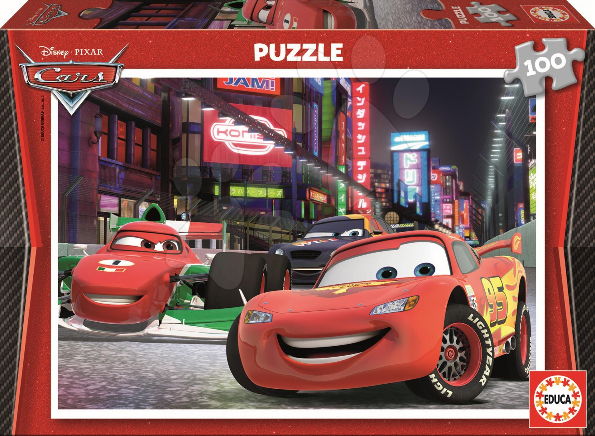 Puzzle pre deti Disney Autá 2 Educa 100 dielov 14940 farebné
