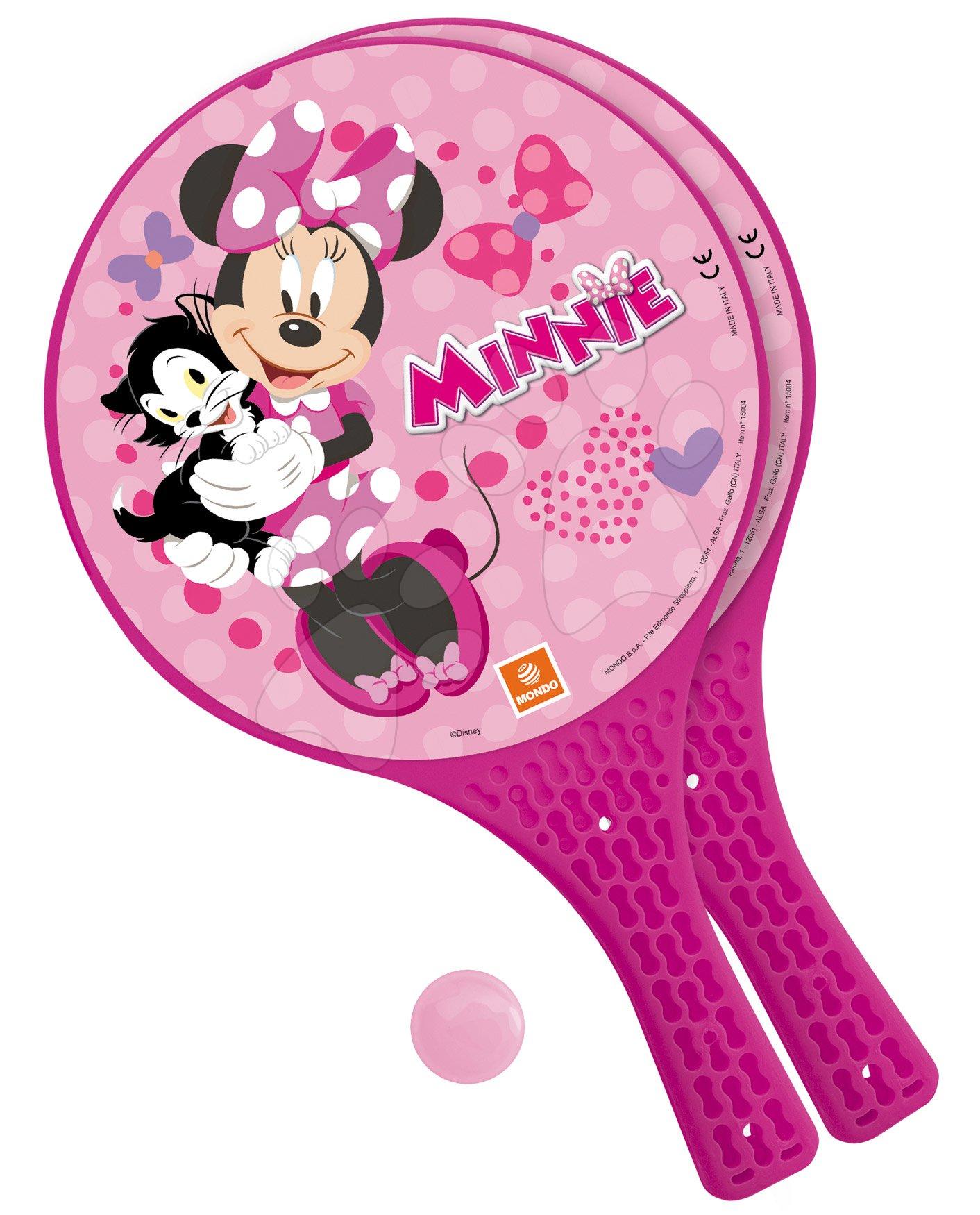 Tenis - Plážový tenis set Minnie Mondo s 2 raketami a loptičkou