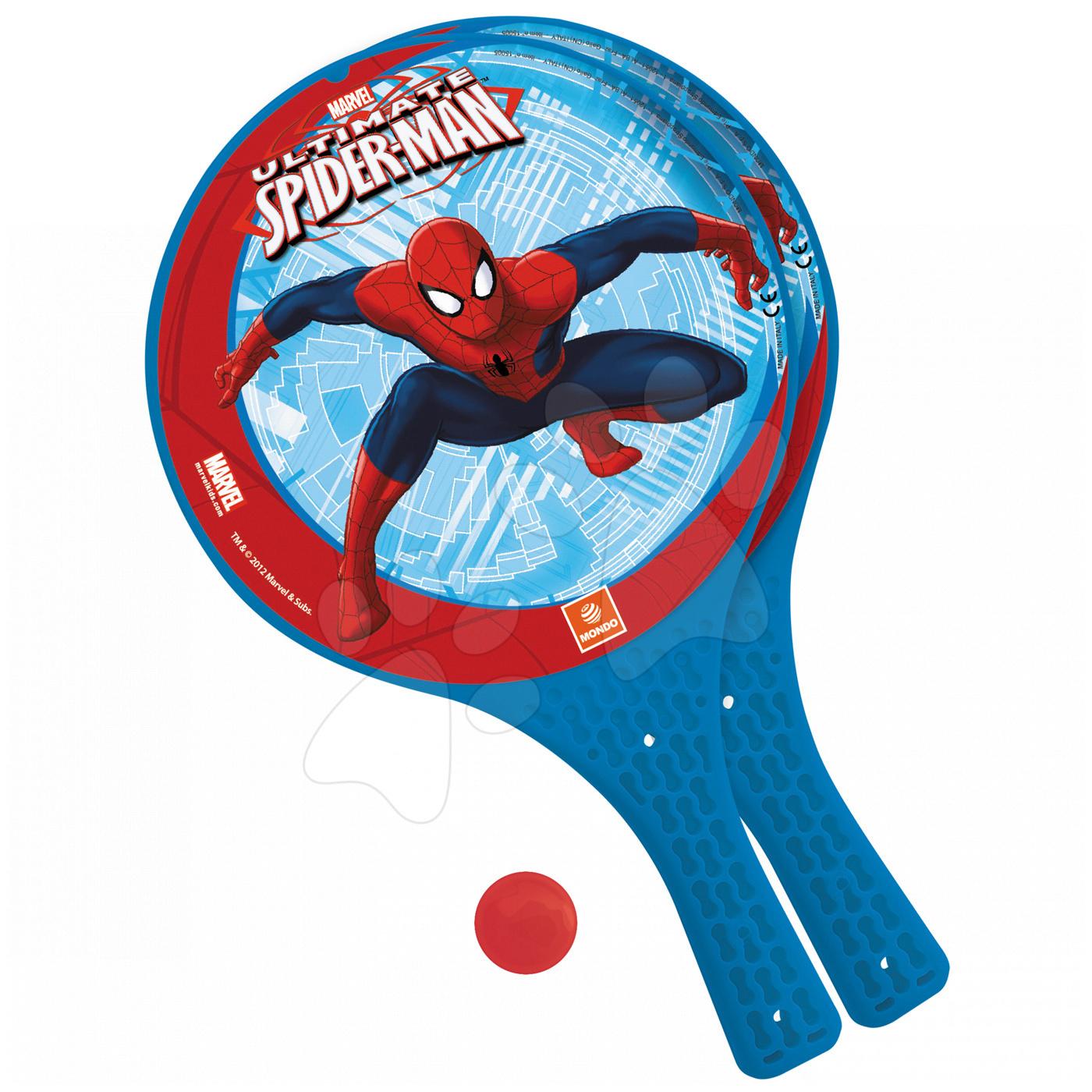 Plážový tenis set The Ultimate Spiderman Mondo s 2 raketami a míčkem