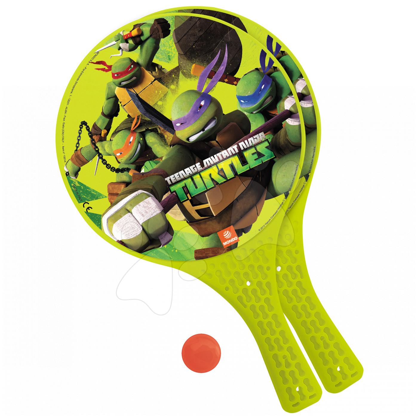 Tenis - Plážový tenis Teenage Mutant Ninja Korytnačky Mondo s 2 raketami a loptičkou