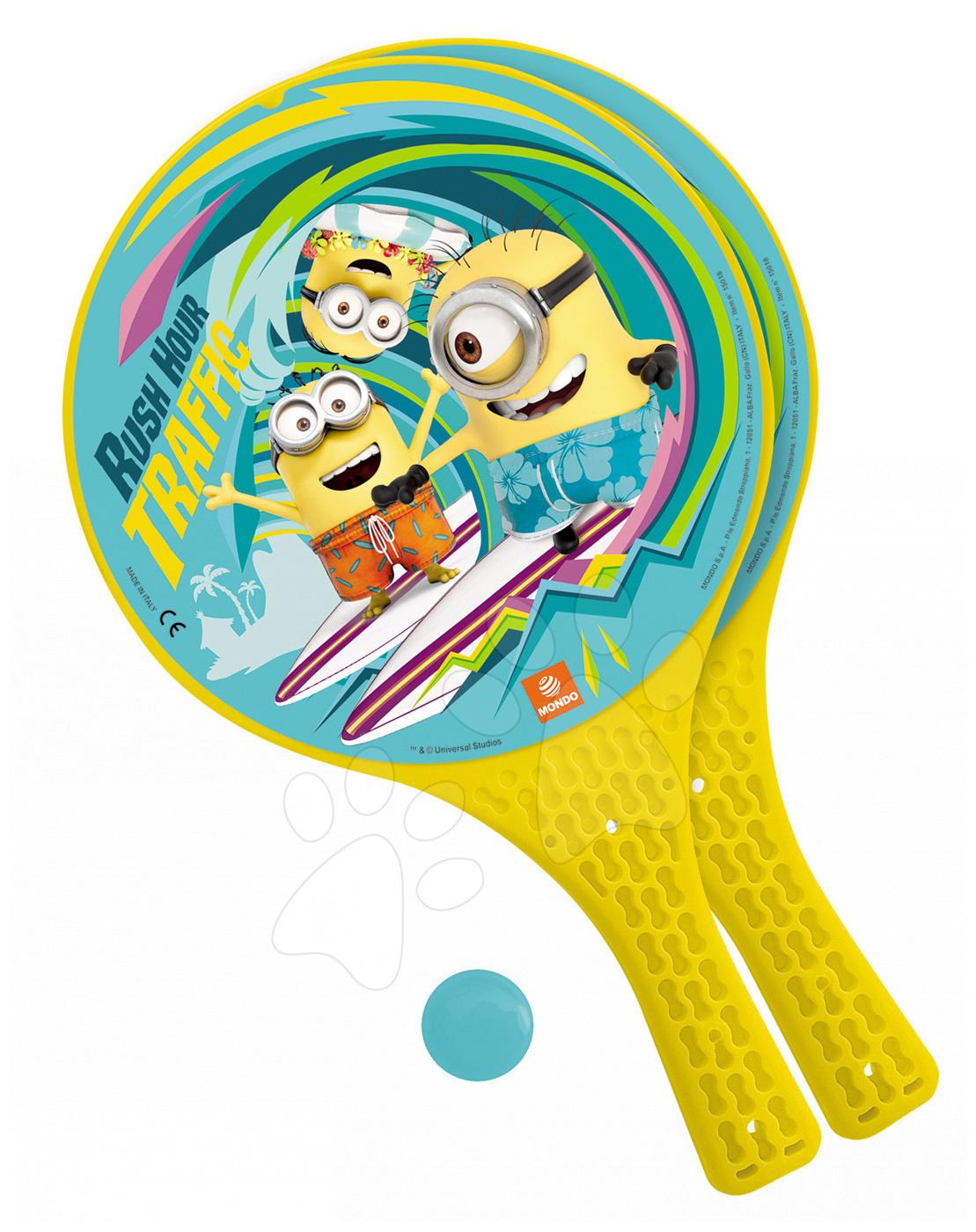Tenis - Plážový tenis Mimoni Mondo s 2 raketami a loptičkou