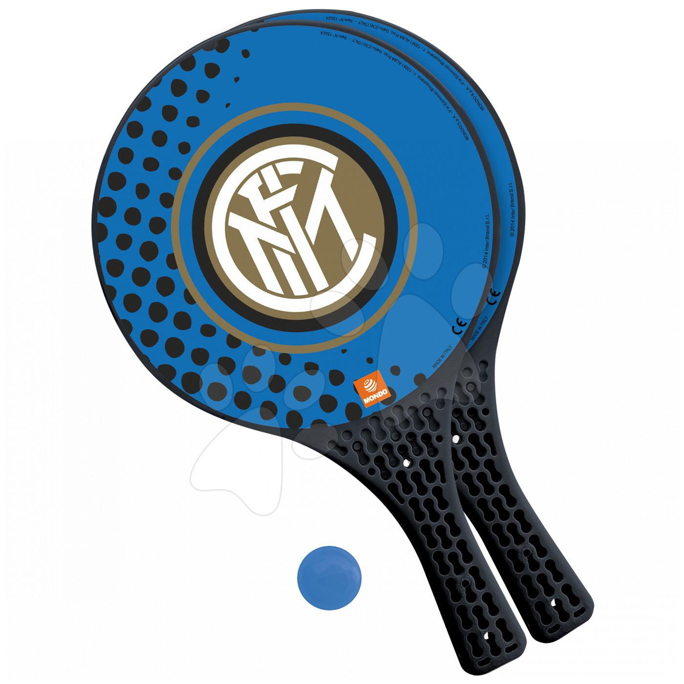 Plážový tenis F. C. Inter Mondo s 2 raketami a míčkem modrý