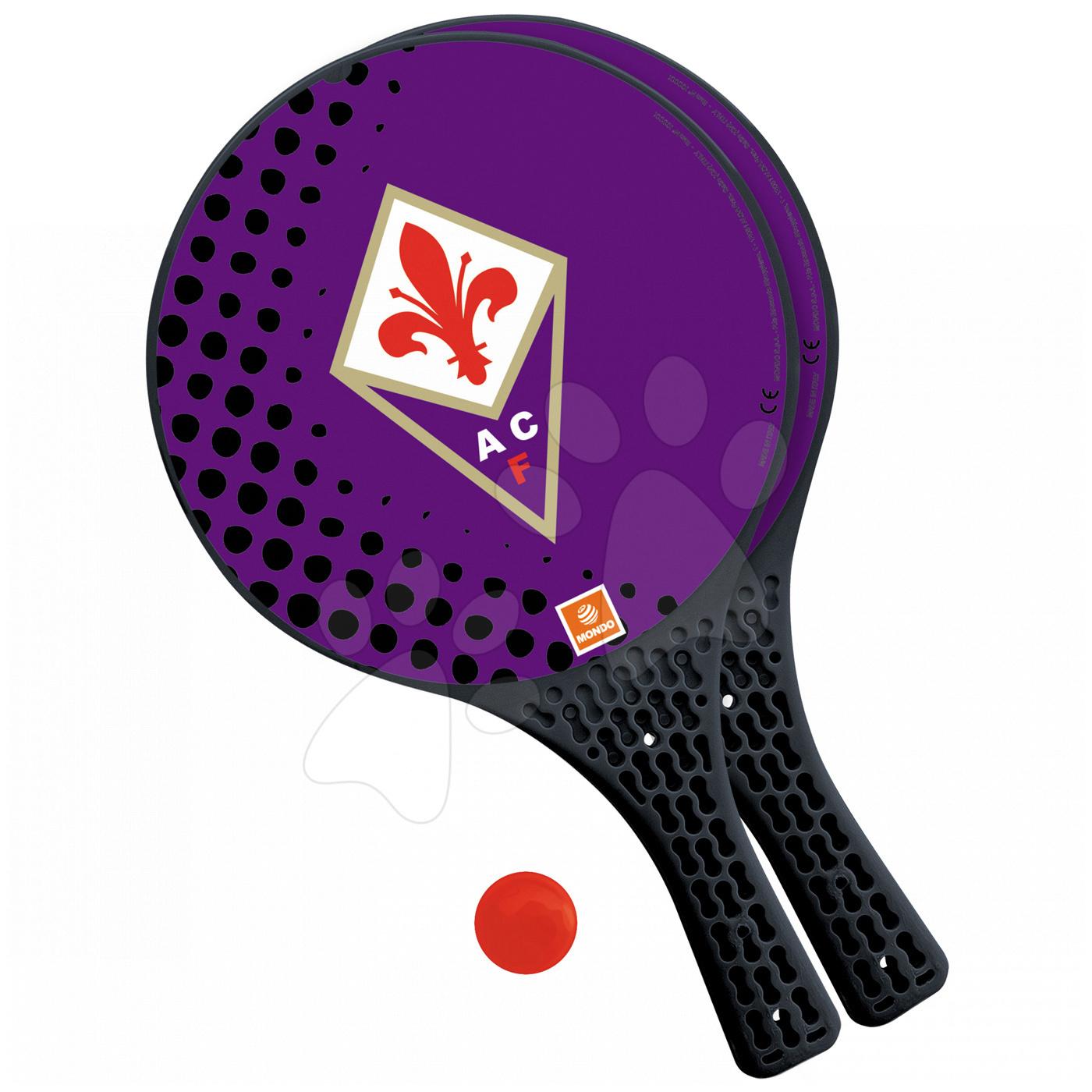 Tenis - Plážový tenis A.C.FIORENTINA Mondo fialové 2 kusy + loptička