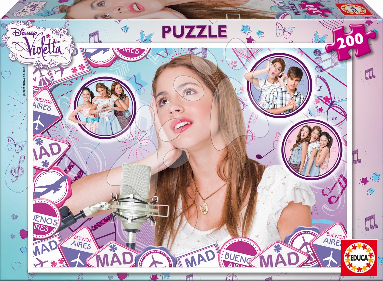 Detské puzzle od 100-300 dielov - Puzzle Disney Violetta Educa 200 dielov od 6 rokov