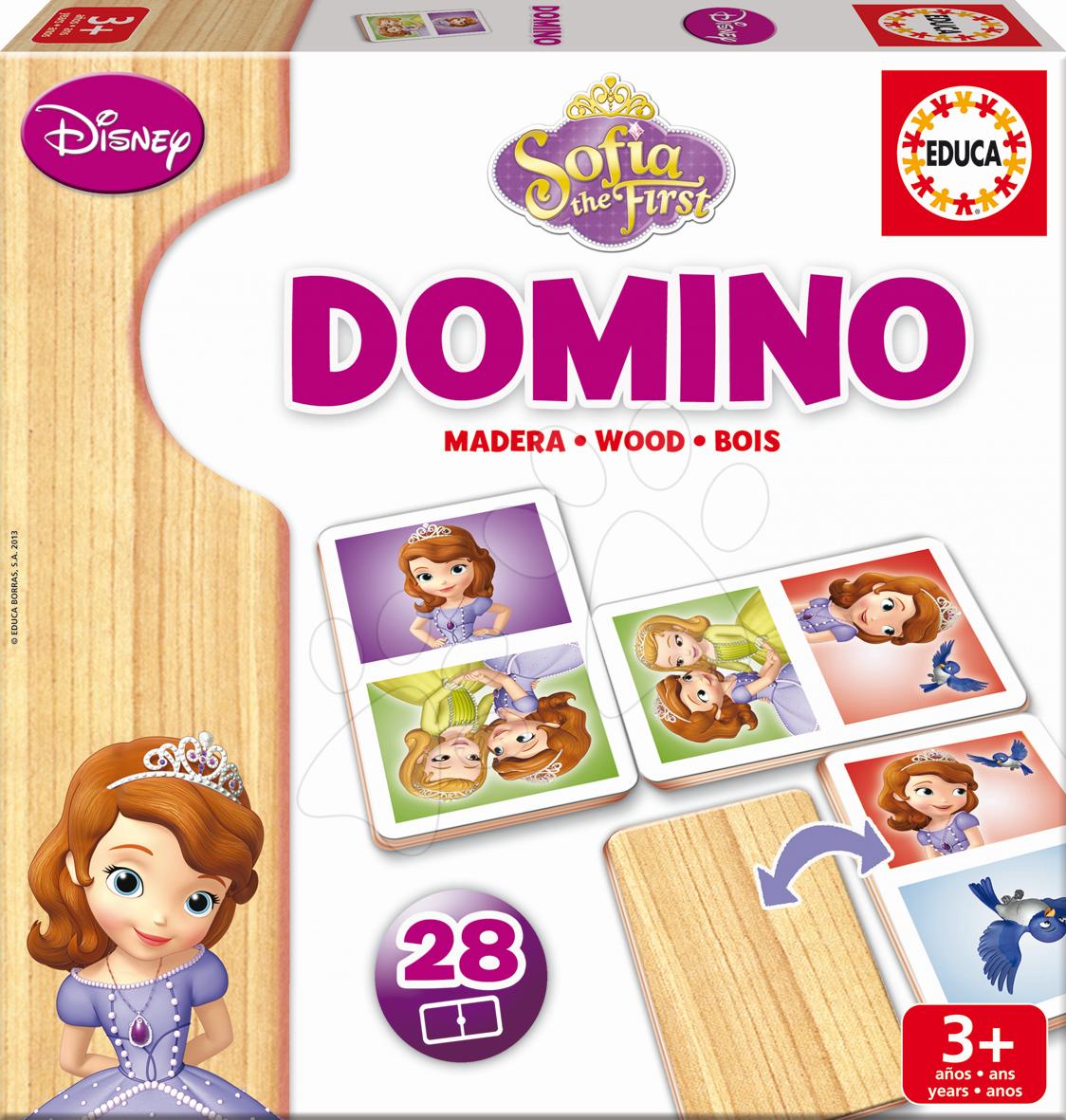 Domino a Lotto - Drevené domino Sofia Prvá Educa 28 ks
