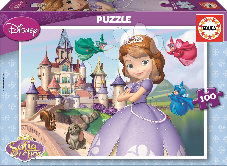 Detské puzzle od 100-300 dielov - Puzzle Sofia Prvá Educa 100 dielov od 5 rokov