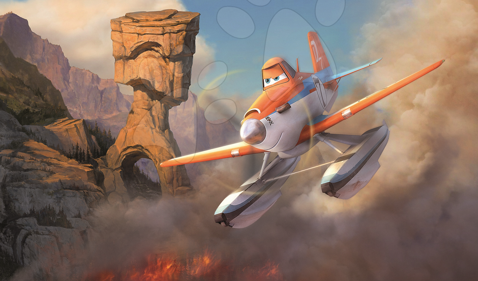 Detské puzzle od 100-300 dielov - Puzzle Disney Lietadlá Educa 2x 100 dielov od 5 rokov