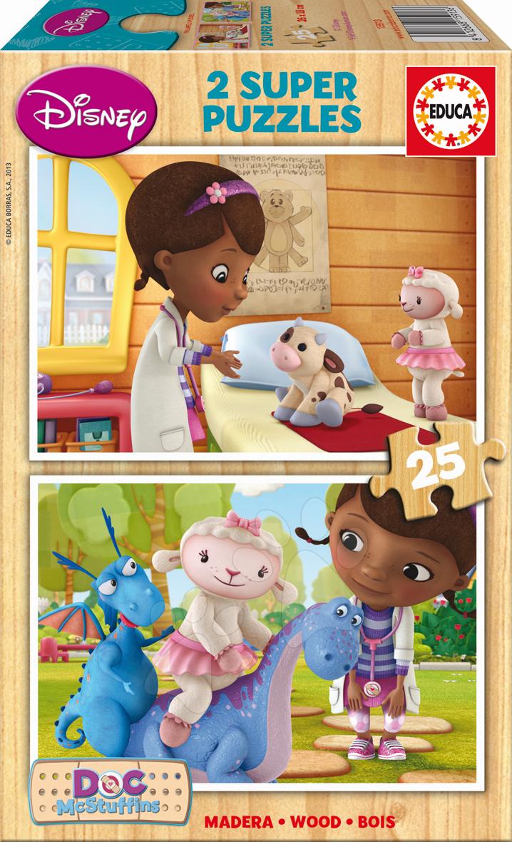 Dřevěné puzzle Doktorka McStuffins Educa 2x25 dílů