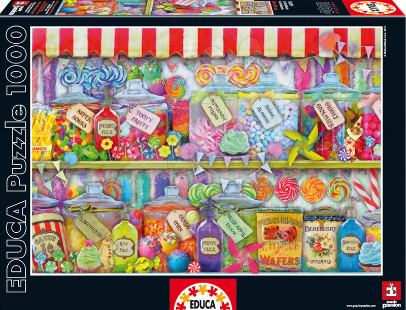 EDUCA 16291 puzzle Genuine Candy Shop 1000 dielikov