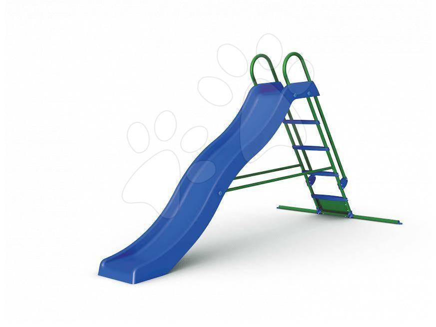 Šmykľavky pre deti  - Šmykľavka Starplast dĺžka 270 cm vlnkovitá s kovovou konštrukciou modrá