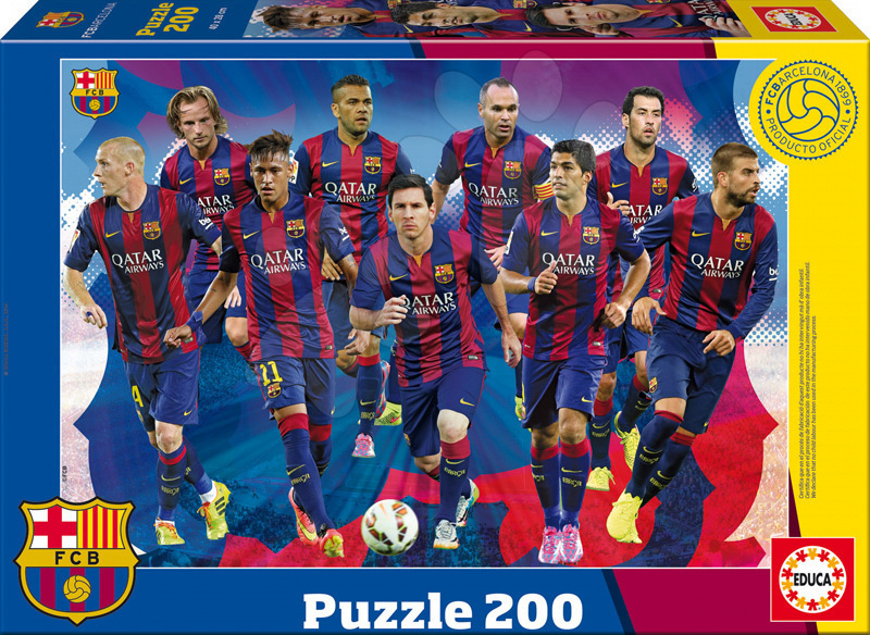 Detské puzzle od 100-300 dielov - Puzzle FC Barcelona 2014-2015 Educa 200 dielov od 6 rokov