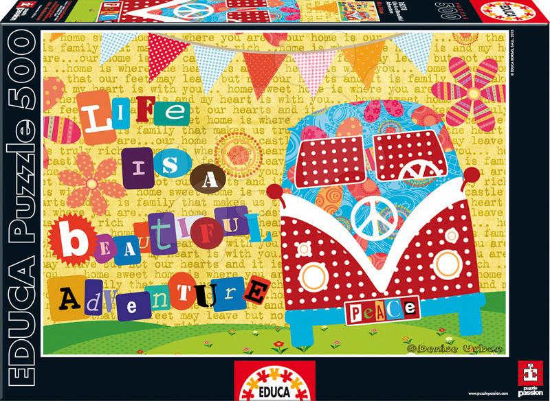 Puzzle 500 dielne - Puzzle Život je krásne dobrodružstvo Educa 500 dielov od 11 rokov