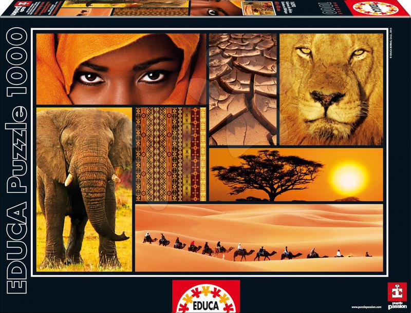 Puzzle 1000 dielne - Puzzle Colors of Africa Educa 1000 dielov od 12 rokov