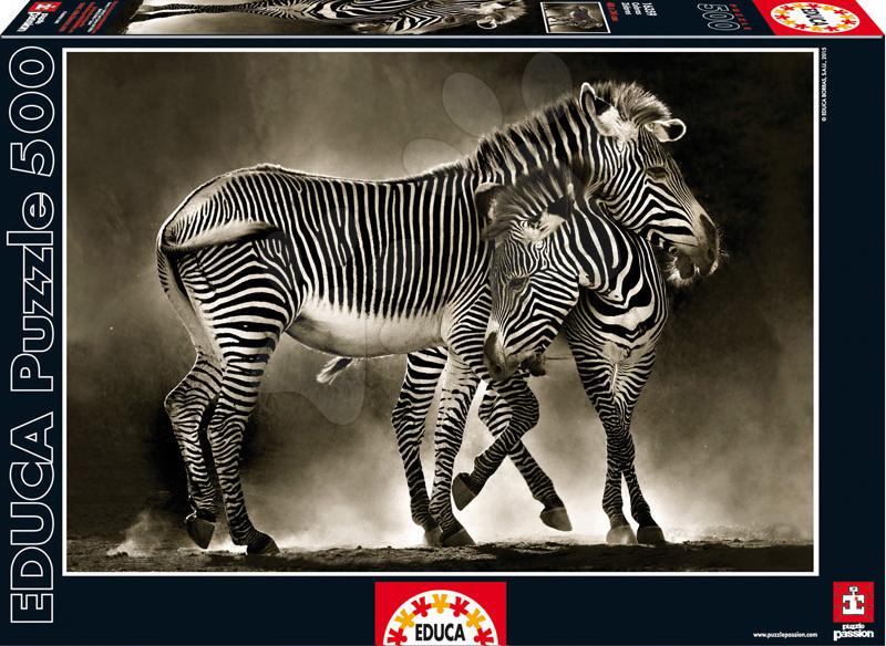 Educa Puzzle Genuine Zebry 500 dielov 16359 čierno-biele