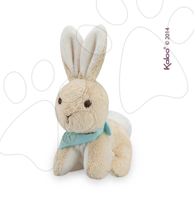 Plyšové zajace - Plyšový zajačik Praliné Les Amis-Lapinou Kaloo 12 cm v darčekovom balení pre najmenších