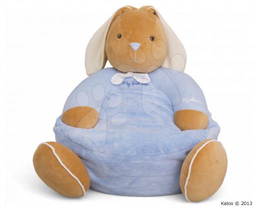 Křeslo plyšový králíček Plume-Maxi Sofa Blue Rabbit Kaloo 45 cm pro nejmenší modré