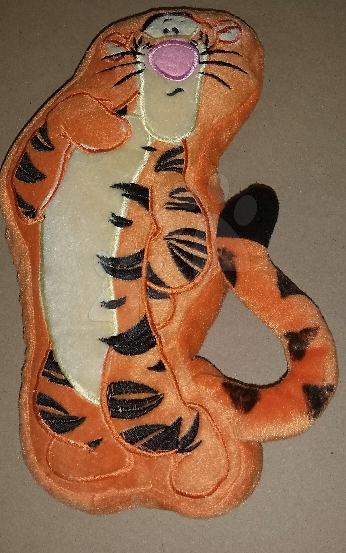 Plyšový polštářek Disney Tiger Ilanit 28*20 cm hnědý