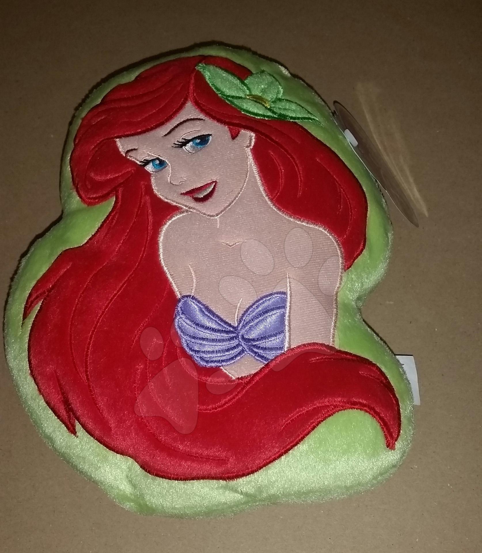 Plyšový polštářek Disney Malá mořská víla Ilanit 28*20 cm zelený