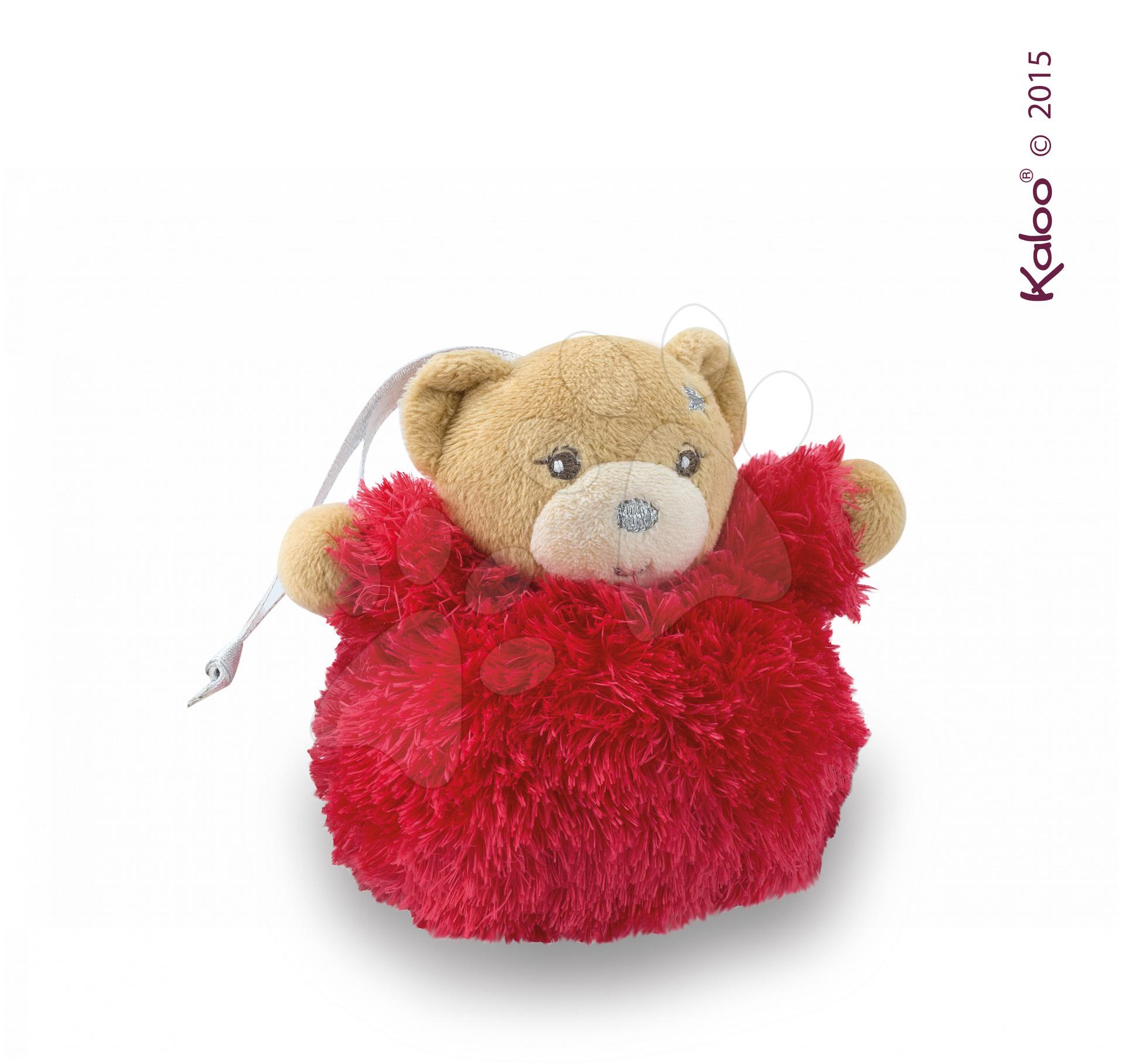 Plyšový medvěd Xmas Ball Kaloo Vánoční koule 11 cm pro nejmenší červený