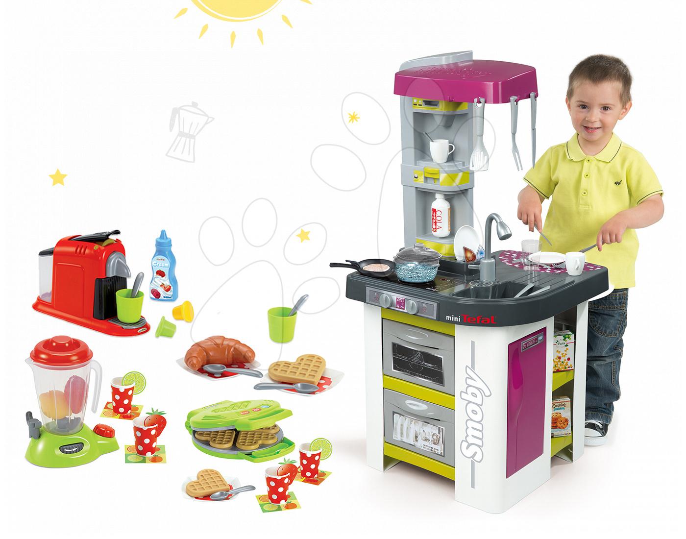 Set kuchyňka Tefal Studio Barbecue a Écoiffier vaflovač s mixérem a kávovarem 311027-20