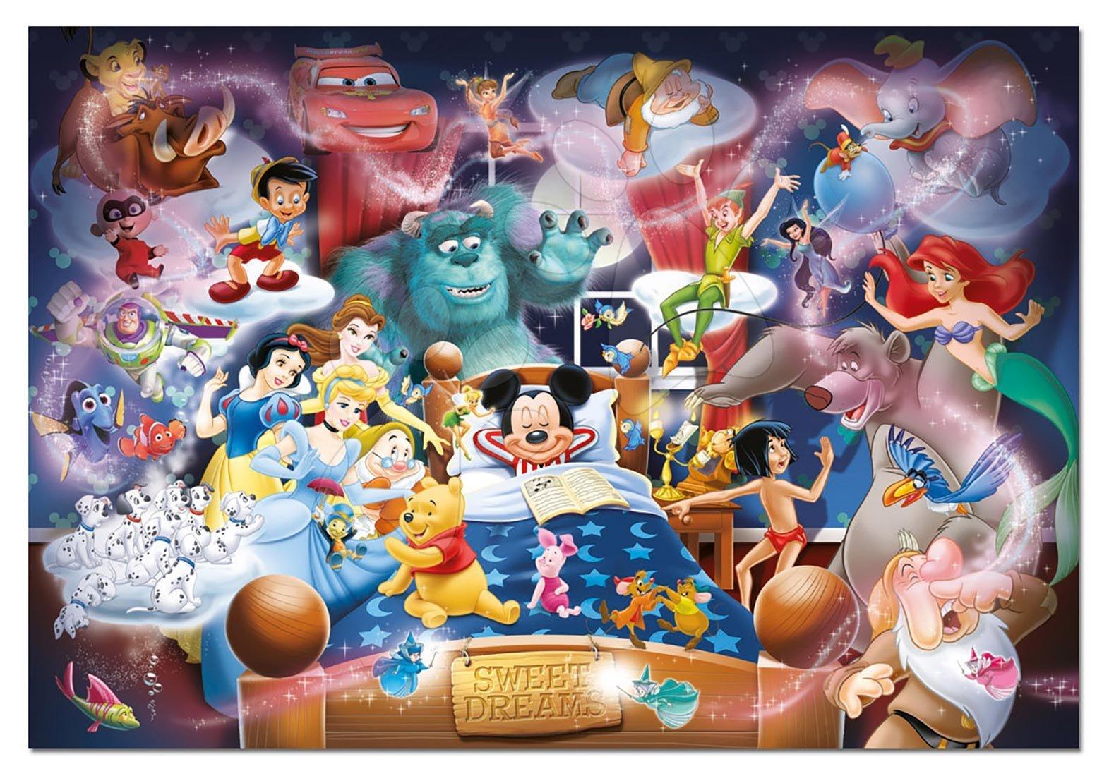 Puzzle 1000 dielne - Puzzle Disney Family Mickey Dream Educa 1000 dielov od 12 rokov