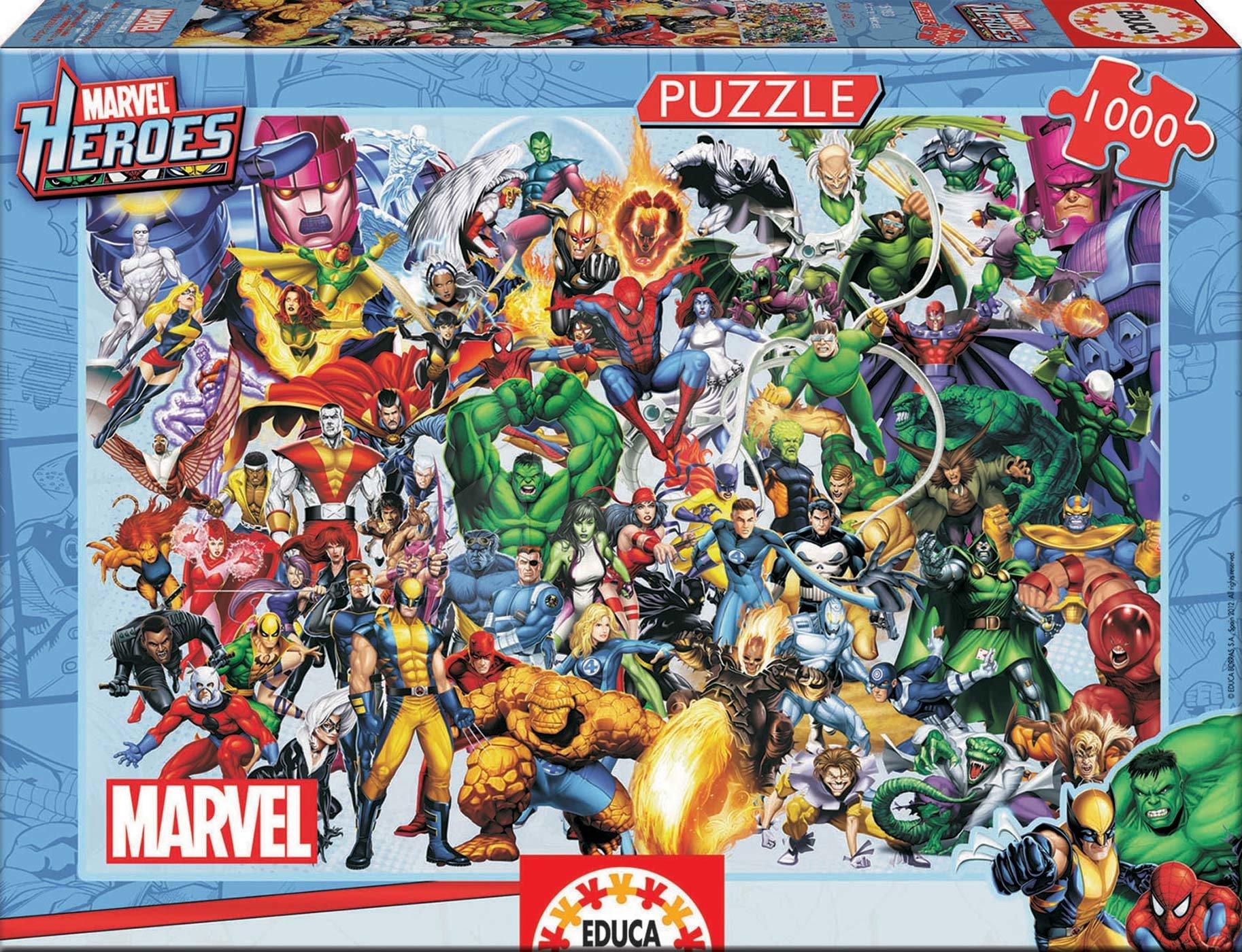 Educa Puzzle Marvel Heroes 1000 dielikov 15193 farebné