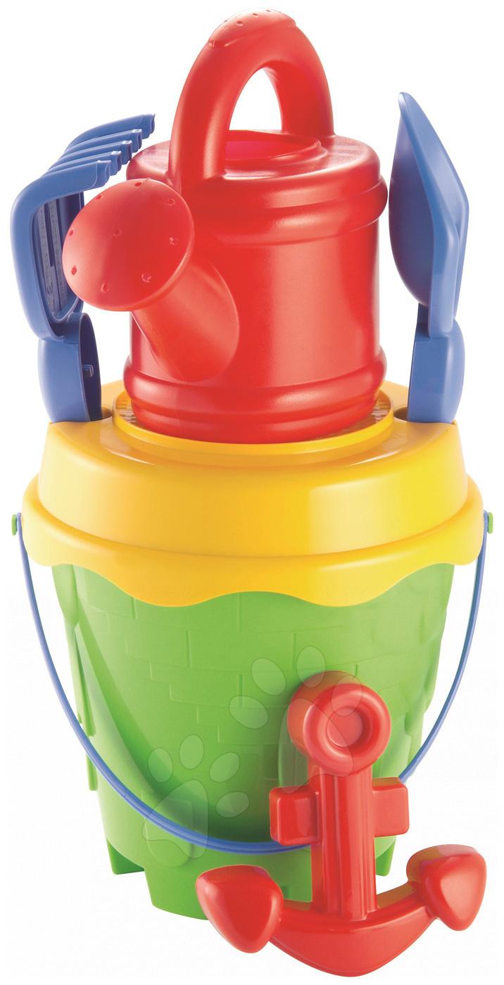 Kbelíky do písku - Velký kbelík set s konví Piráti Écoiffier 6 dílů od 18 měsíců