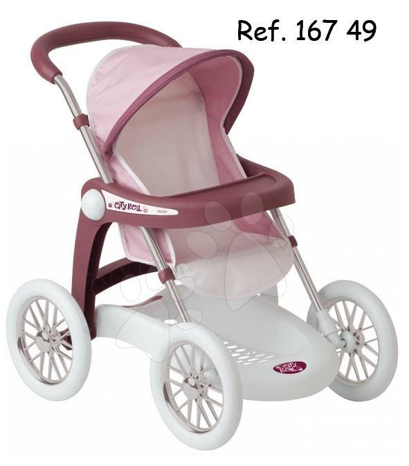 Baby Nurse kočárek sportovní Smoby růžovo-bílý výška rukojeti 62 cm