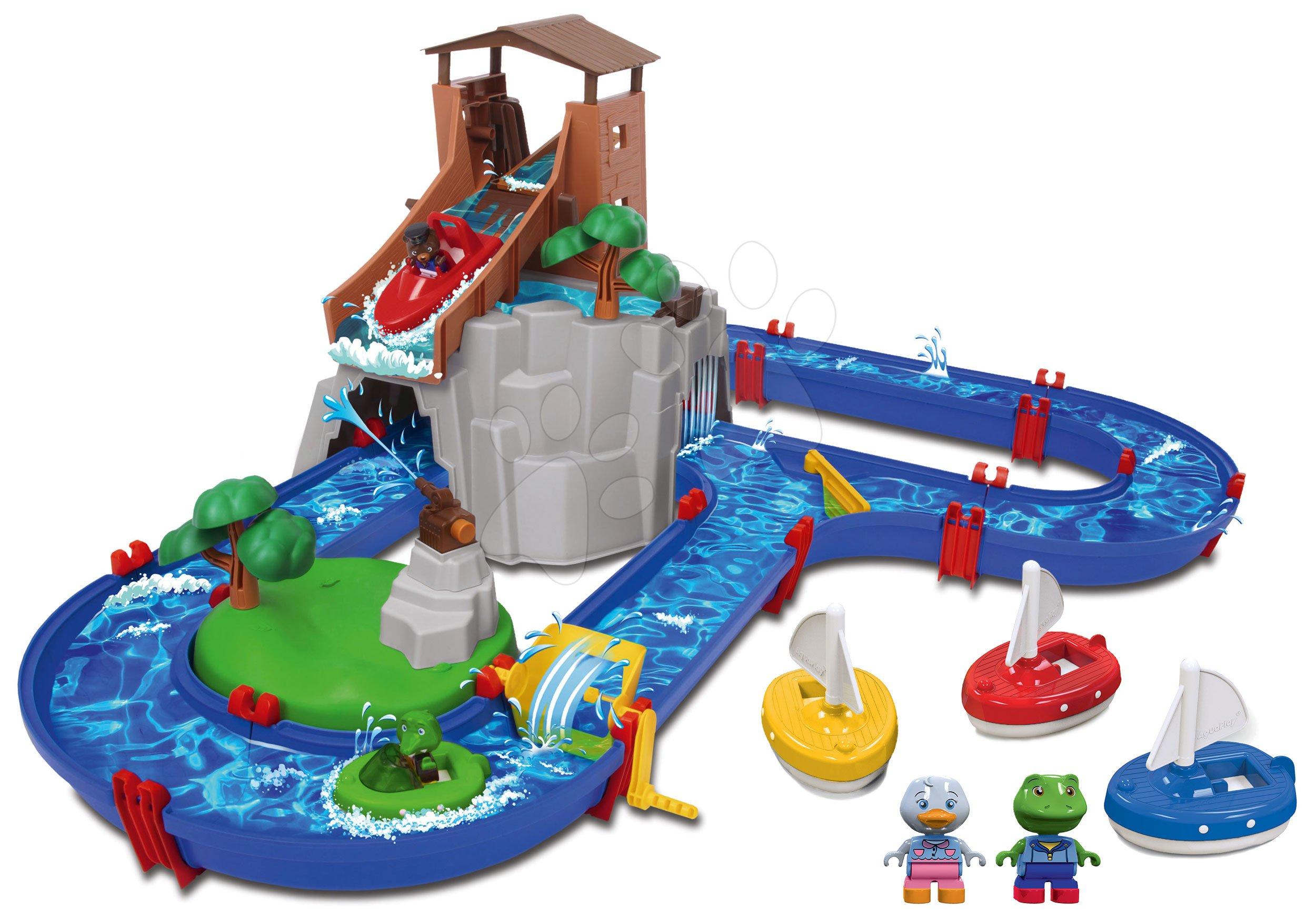 Set vodena staza Adventure Land AquaPlay pustolovina ispod vodopada i jedrilice s figuricama na poklon