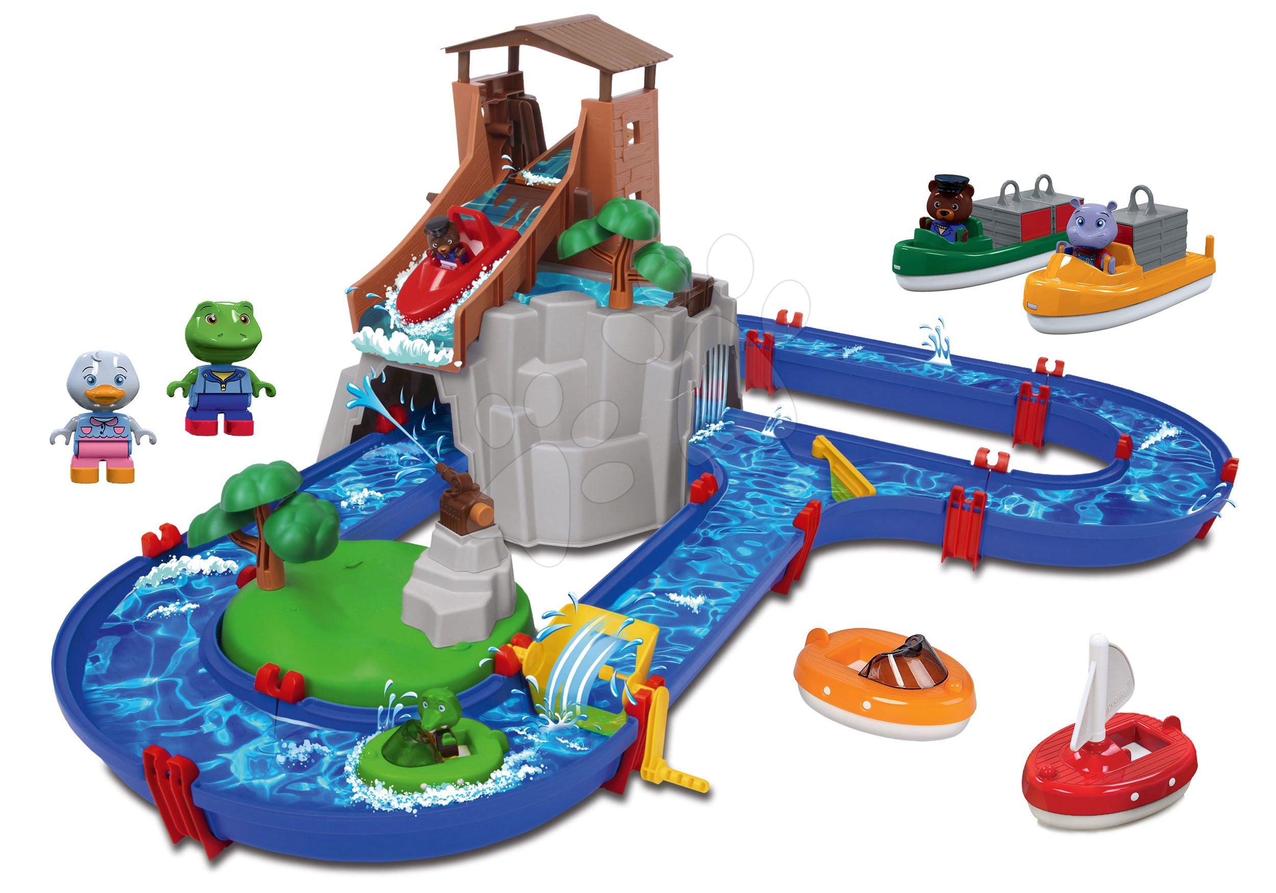 Set vodná dráha Adventure Land AquaPlay dobrodružstvo pod vodopádom a motorové člny s postavičkami ako Darček