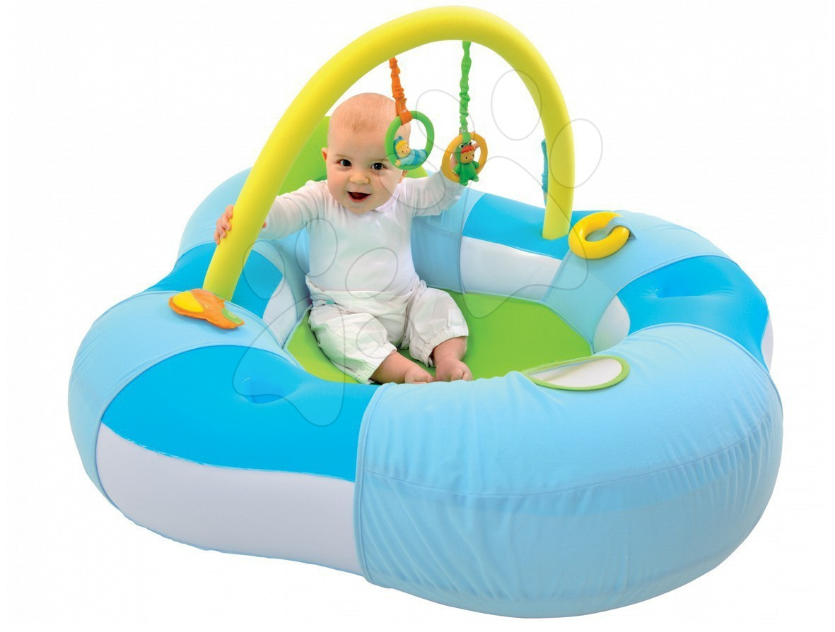 Staré položky - Nafukovacie lehátko Baby Cotoons Smoby s hrazdou modré od 3 mes