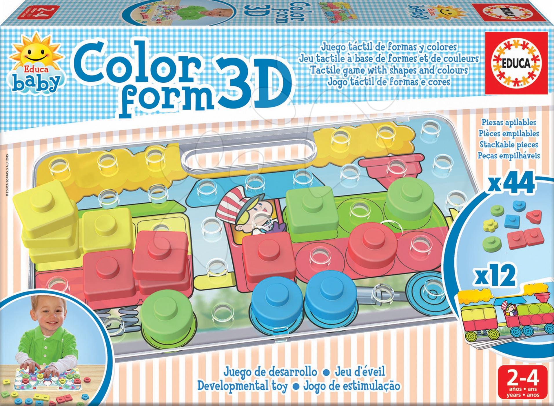 Puzzle pre najmenších - Priestorové puzzle Color Form 3D Baby Educa 42 dielov od 24 mes