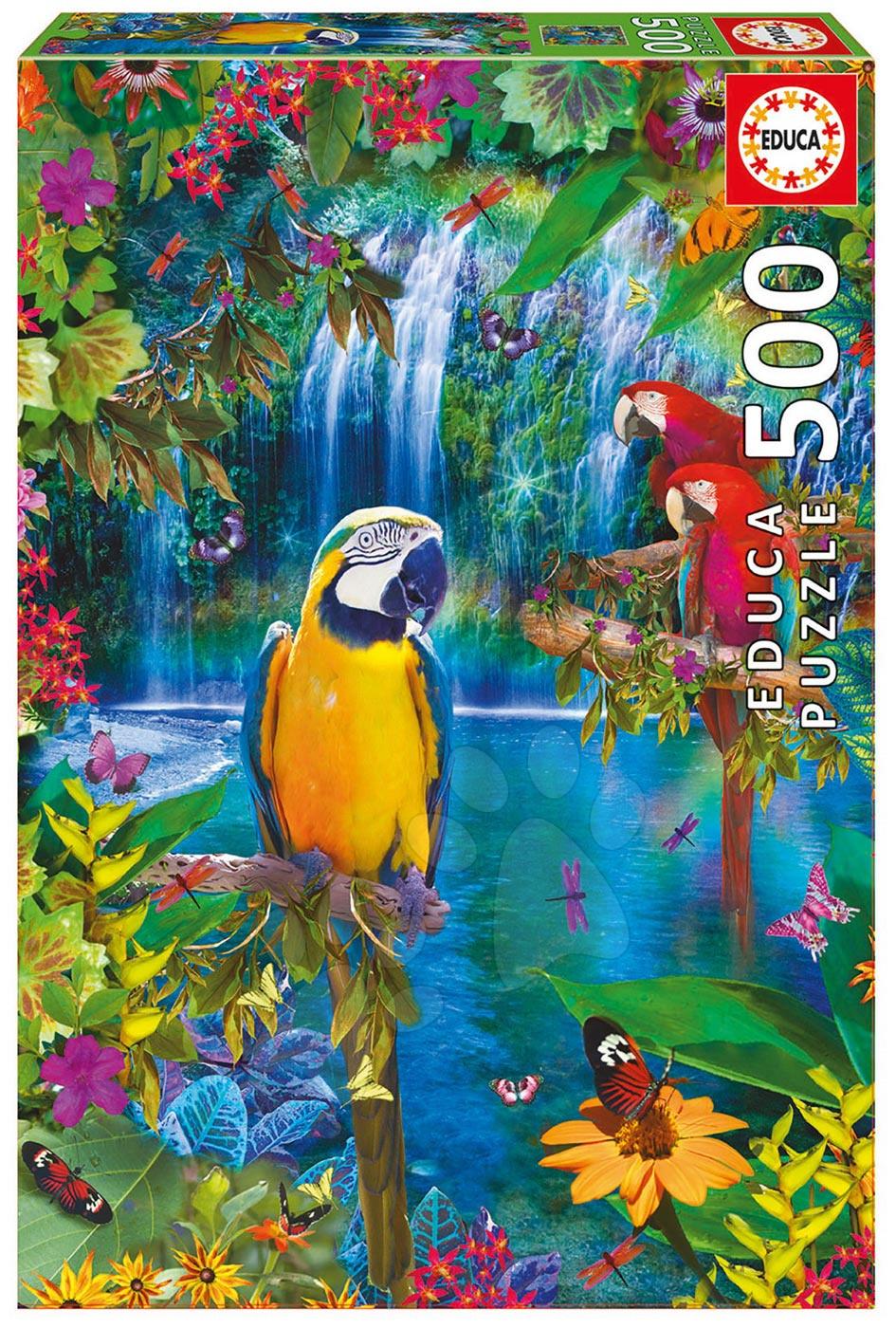 Educa Puzzle Genuine Bird Tropical Land 500 dielov 15512 farebné