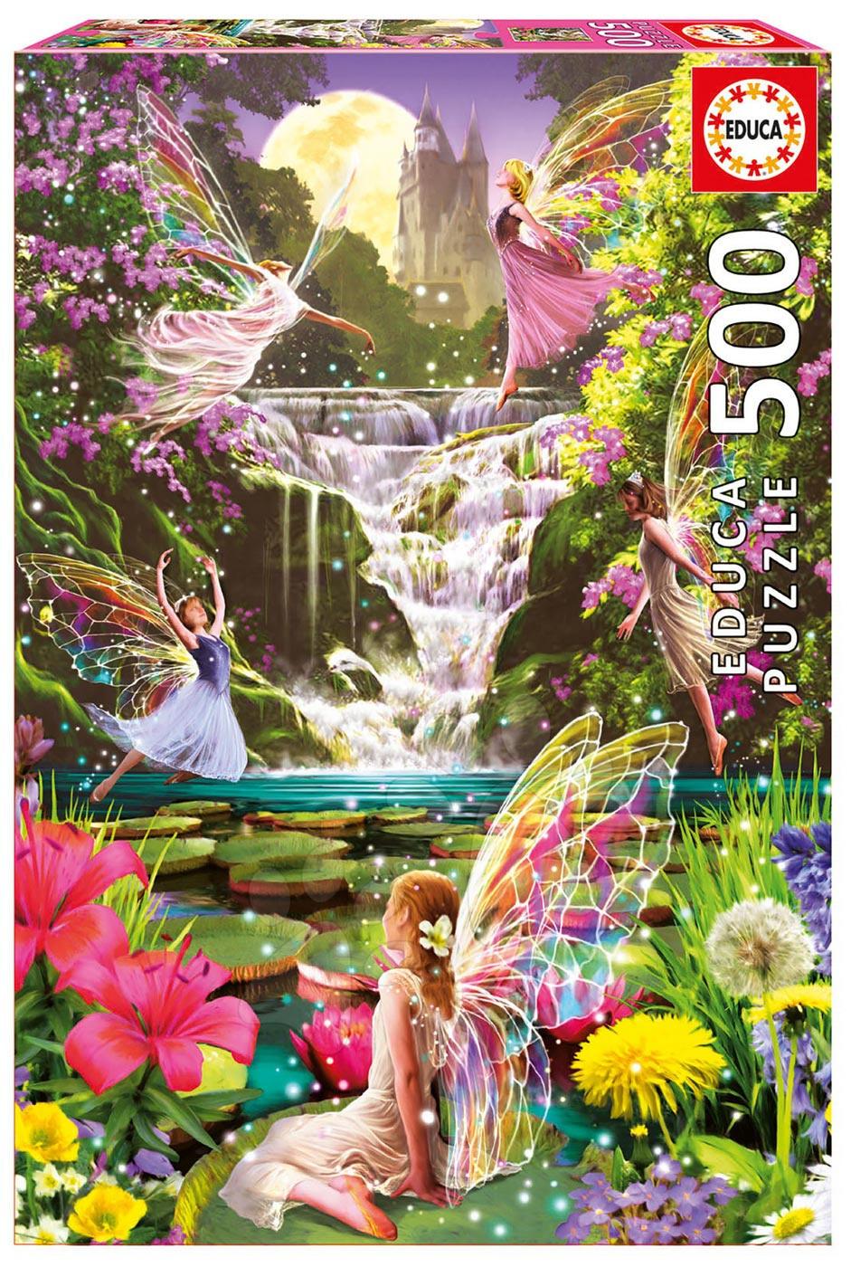 Puzzle Genuine Waterfall Fairies Educa 500 dílů od 11 let
