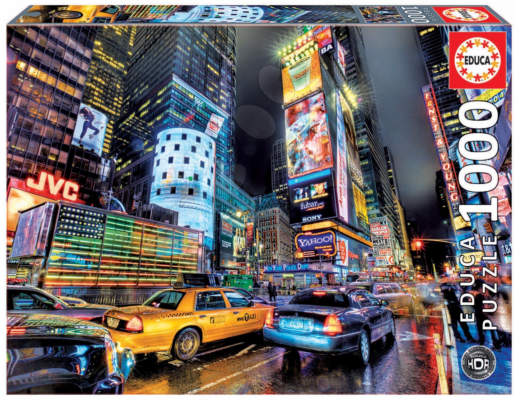Puzzle 1000 dielne - Puzzle Times Square Educa 1000 dielov od 12 rokov