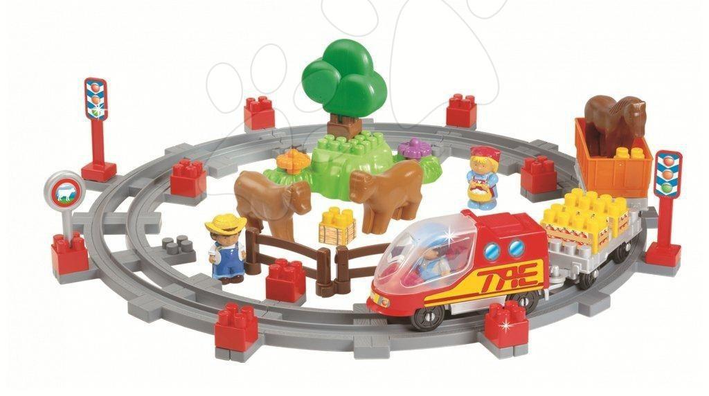 Joc de construit cale ferată cu tren Écoiffier 52 de piese de la 18 luni