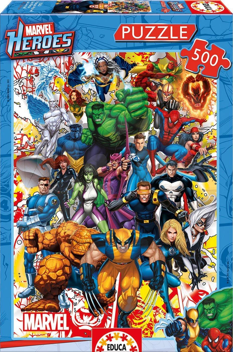 Educa Puzzle Marvel Heroes 500 dielov 15560 farebné