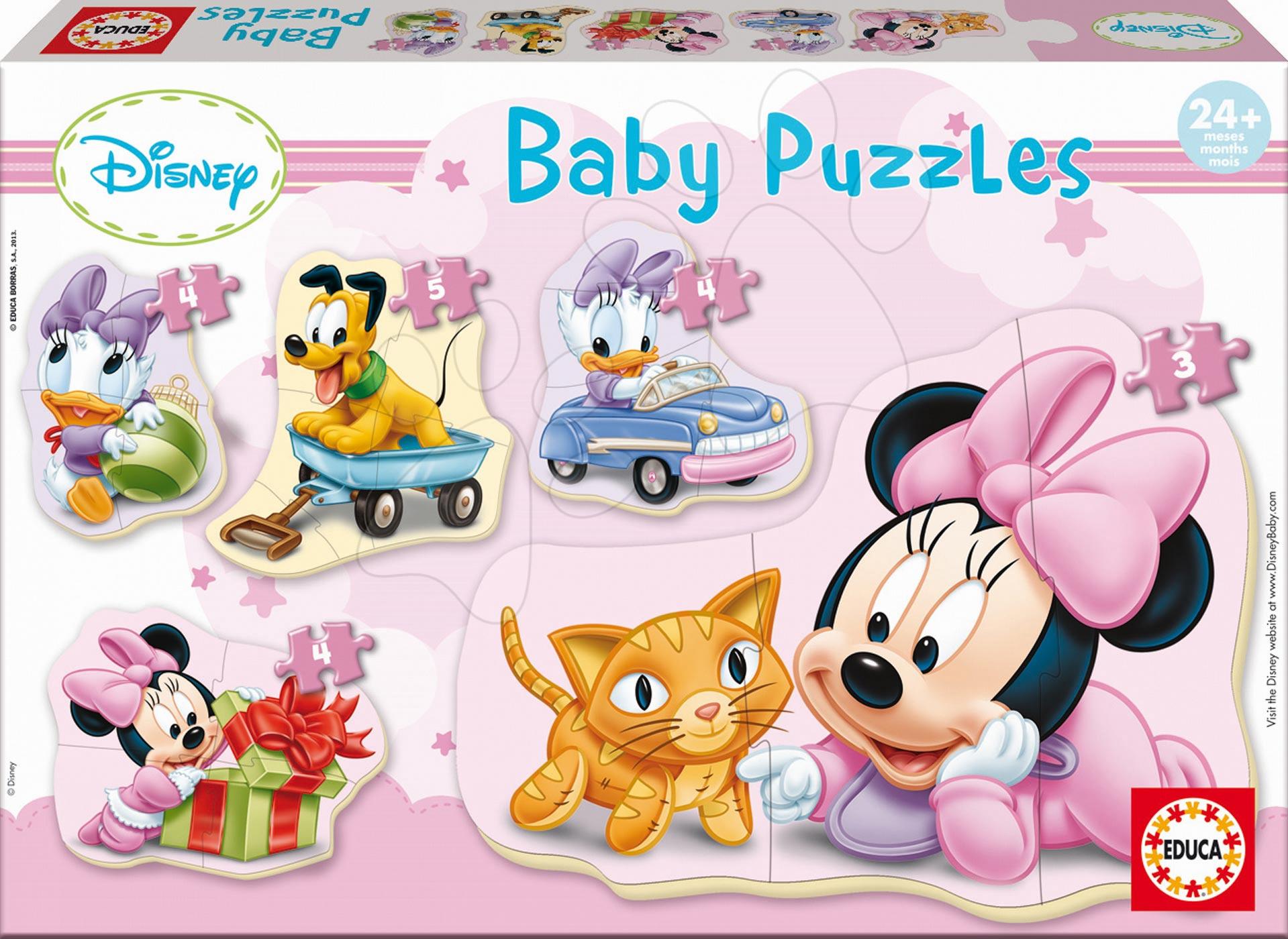 Baby puzzle Minnie Educa 5obrázkové od 24 měsíců