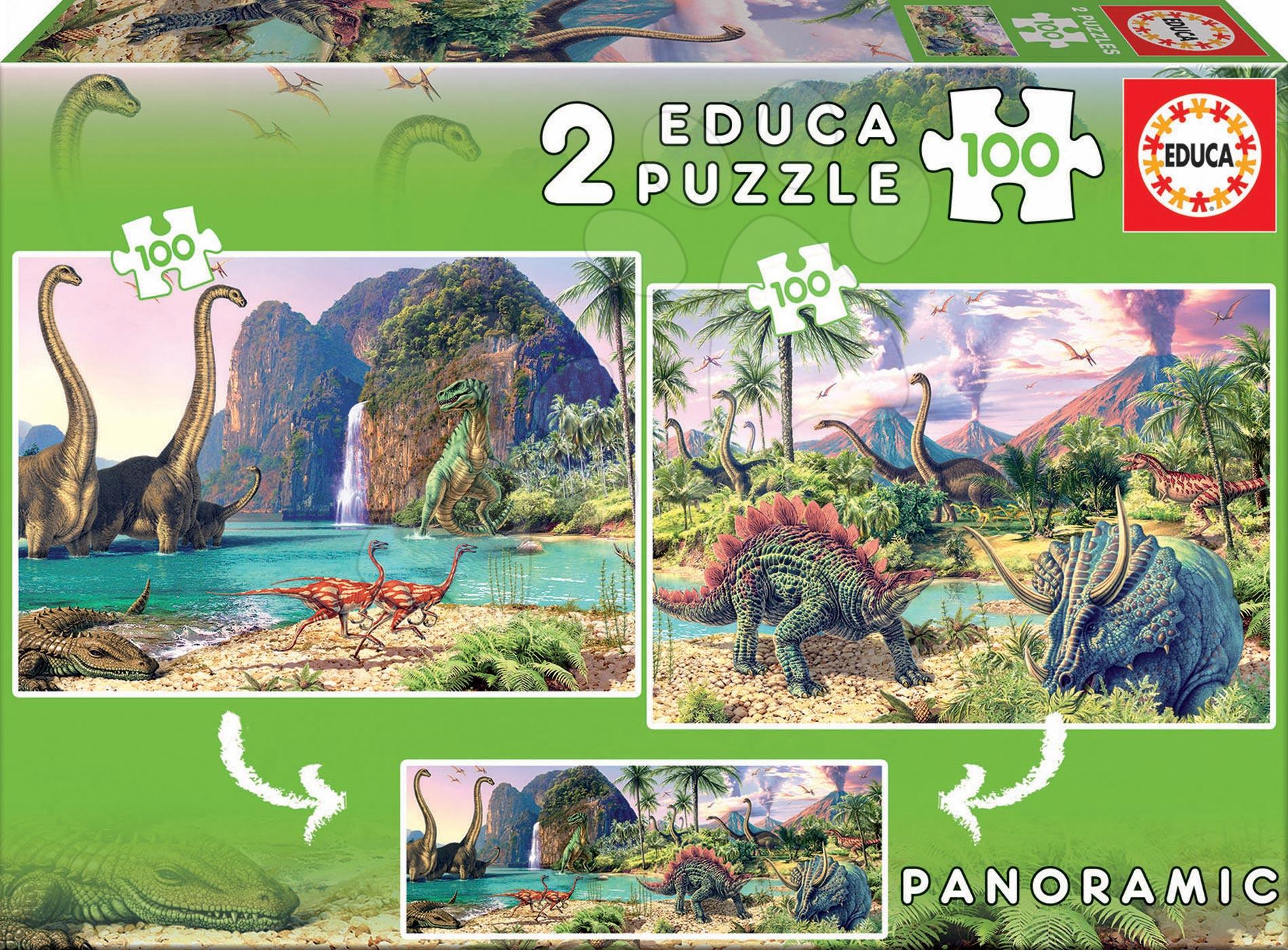 Puzzle pre deti Dino Educa 2x100 dielov 15620 farebné