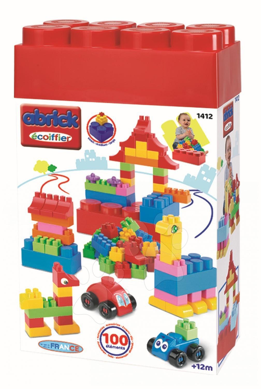 Stavebnica Abrick Maxi Multi Box Écoiffier 100 dielov od 12 mes