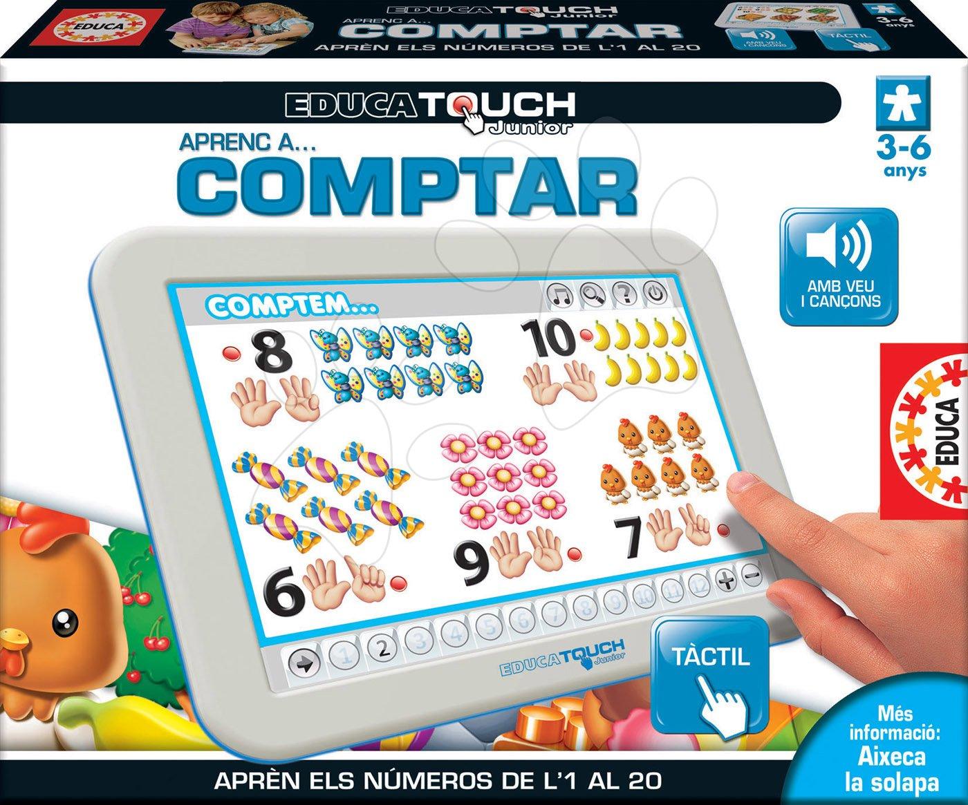 Tablet elektronický Počítame od 1 do 20 Educa pre deti od 3-6 rokov španielsky