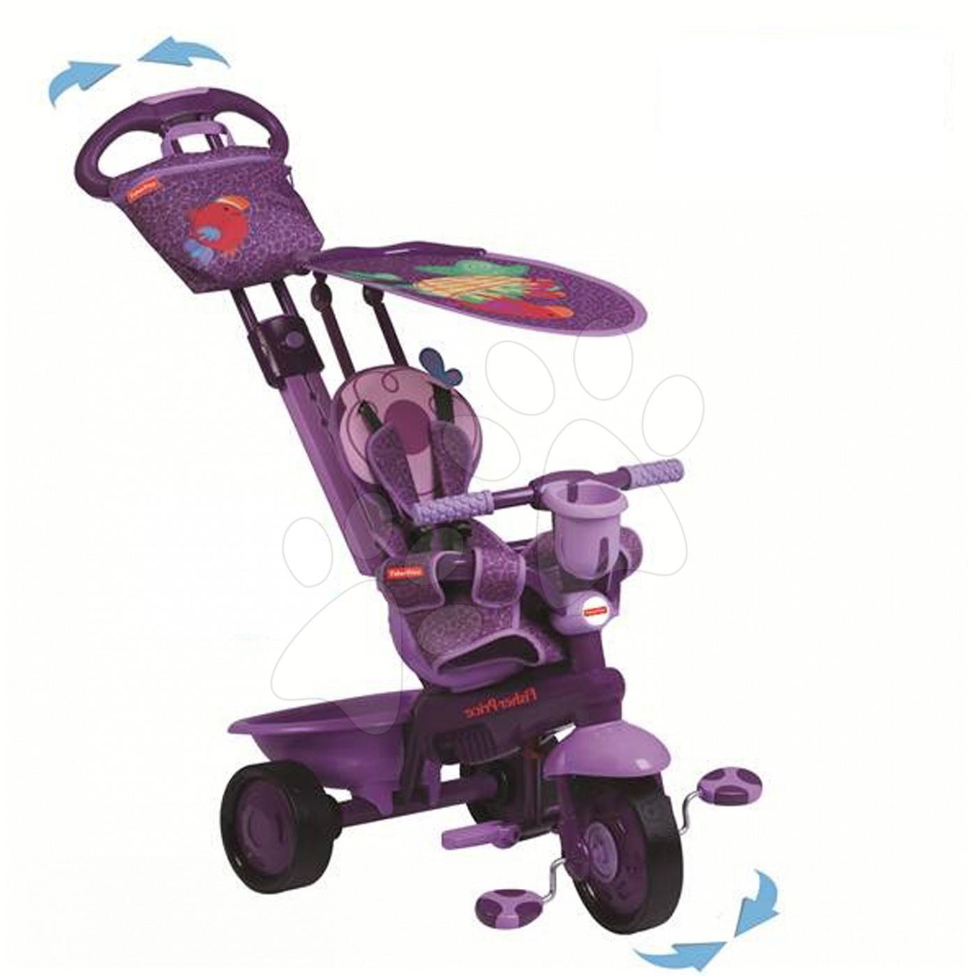 Trojkolka Fisher-Price Royal Purple smarTrike fialová od 10 mes