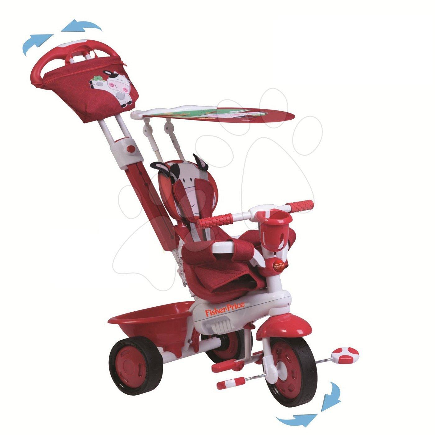 Trojkolky od 10 mesiacov - Trojkolka Fisher-Price Royal Red smarTrike červená od 10 mes