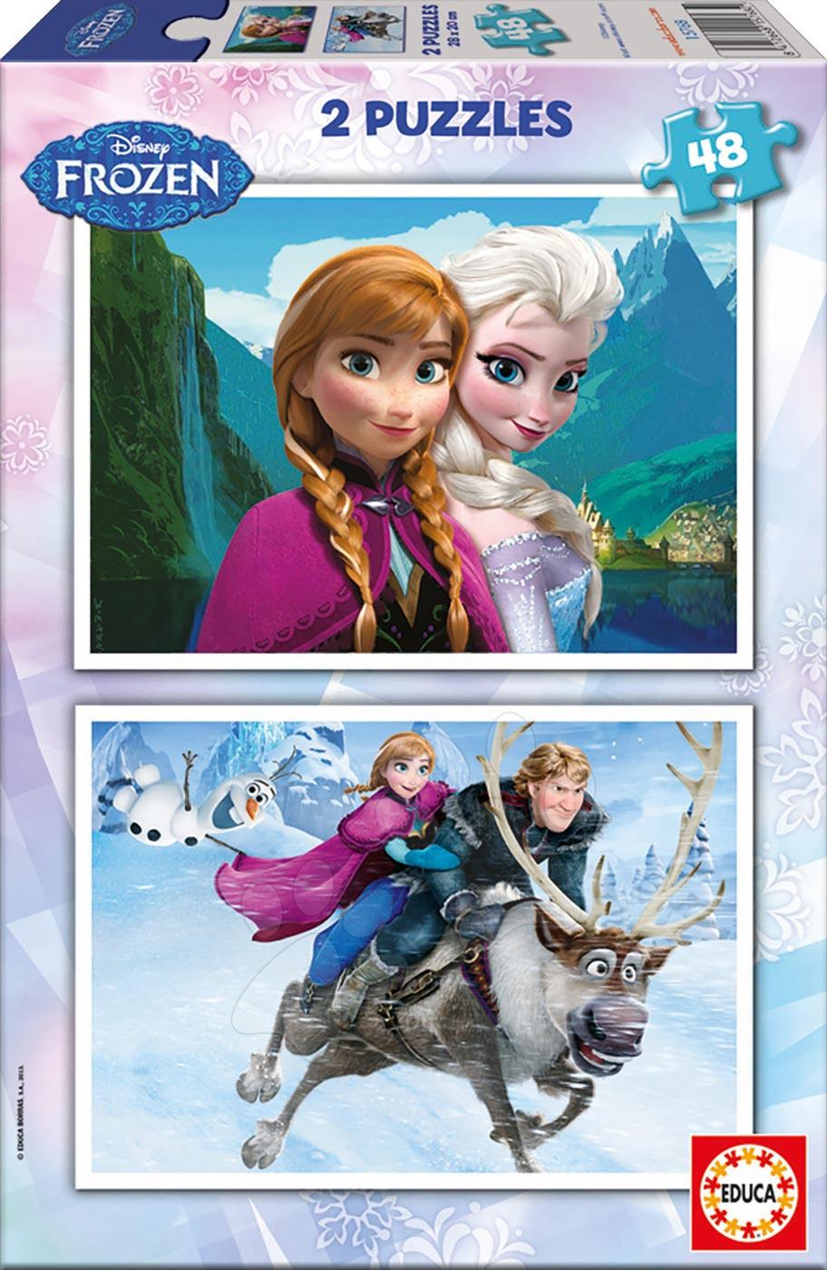 Detské puzzle do 100 dielov - Puzzle Disney Frozen - Ľadové kráľovstvo Educa 2x48 dielov